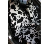 Fiat Doblo van seat covers cow fur fabric- 2 fronts